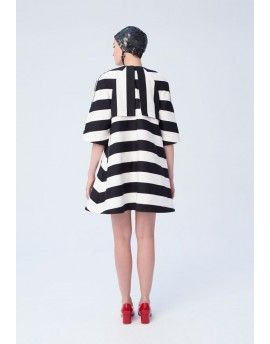 Striped trenchcoat