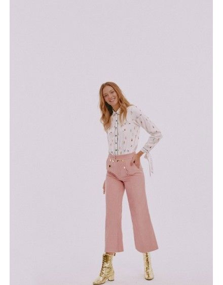 Christmas red corduroy culotte